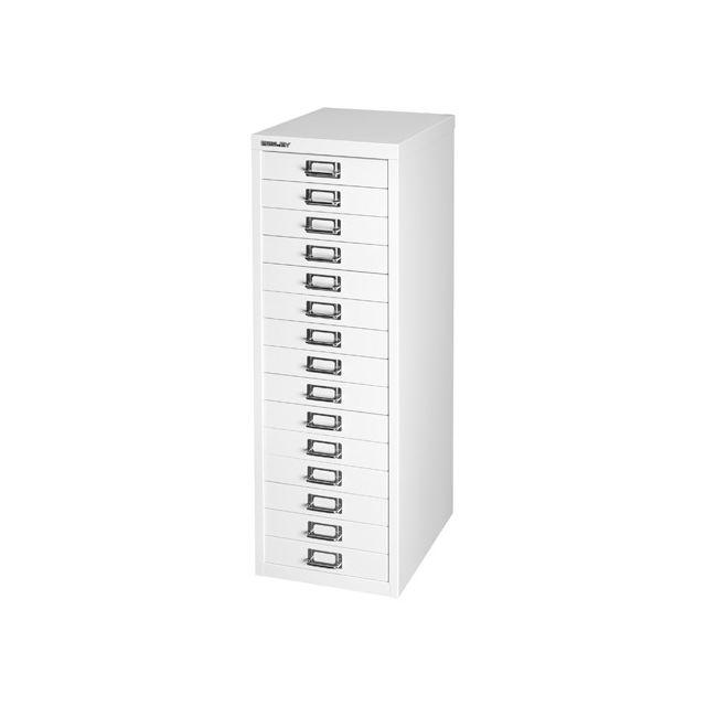 Bisley - Classeur monobloc classique 15 tiroirs blanc