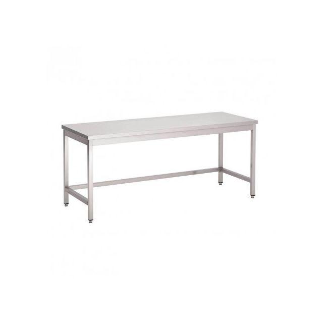 Combisteel Table de Travail Inox Sans Sous Tablette - Gamme 600 mm inox 700x600 600