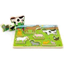 Puzzle vertical les animaux de la ferme