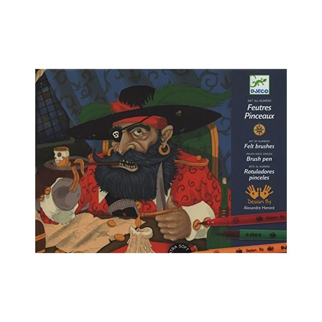 Djeco Draw Pirates - Felt Tip Markers Multicolor