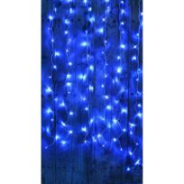 Blachereillumination - Rideau Flicker 2x2 m 96 Leds Bleu Animé