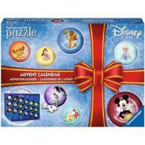 Calendrier de l'avent puzzles Disney - 18 puzzles 3D 27 pcs + 6 puzzles 20 pcs