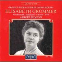 Orfeo d'Or - Elisabeth Grümmer, soprano - Lieder