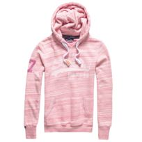 Superdry - Vintage Logo Injected Jersey Entry Sweat Capuche Femme - Taille  L - Rose b53fcf73c132