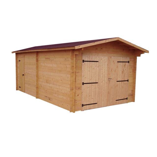 HABRITA Garage DENIS madriers Douglas 28 mm 23,94 m²