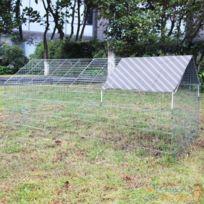 Aqua Occaz - Clapier, lapinière ou enclos à lapins. En métal, 180 cm de longueur