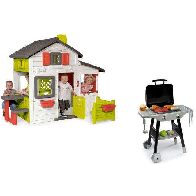 Cabane enfant Friends House + barbecue