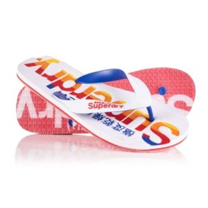 Tongs Superdry Mainline Flip Flop Clear Sole Red 2HIapkbr7Y