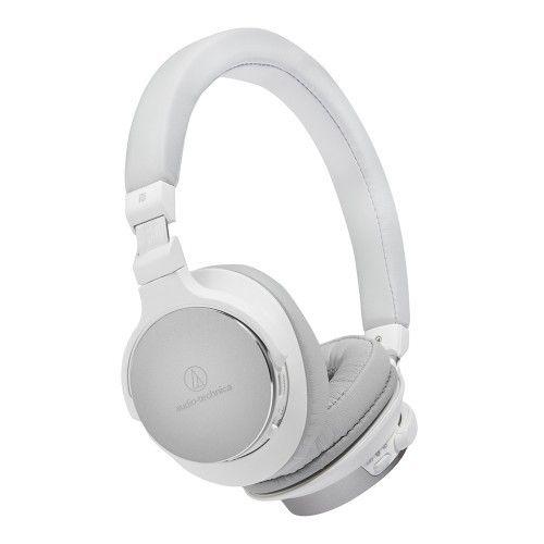 AUDIO-TECHNICA  Casque arceau circum-auriculaire Bluetooth Hi-Res Blanc - ATH-SR5BT