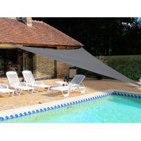 Ideanature - Voile d'ombrage triangulaire en polyester 180g/m² 5x5x5m Jardin Plaisir
