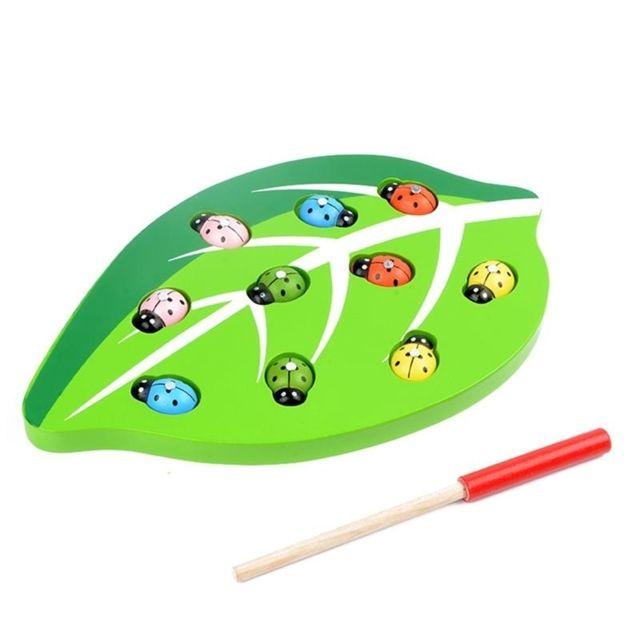 Wewoo Jeu construction Diy Catch Insectes Jouet En Bois Magnétique Drôle Début De Développement Éducatif Ensemble Jouets pour