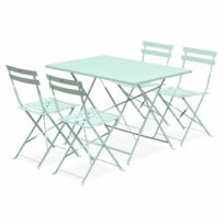 Table jardin vert anis - catalogue 2019 - [RueDuCommerce - Carrefour]