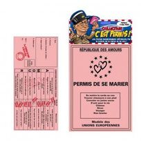 Hellocadeau - Permis de Conduire Humoristique : Le Mariage