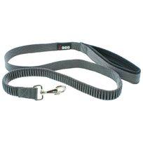 I-dog - Laisse Confort Elastique 120 cm Noir/Gris