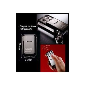 Sommer t l commande 4031 868 mhz 4 canaux clapet inox for Telecommande sommer porte de garage