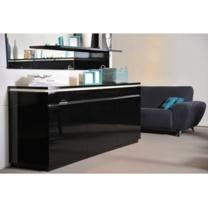 envie de meubles buffet noir laqu electro avec. Black Bedroom Furniture Sets. Home Design Ideas