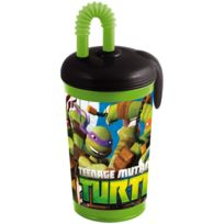 Stor - Gobelet-paille 430ml Tortues Ninja