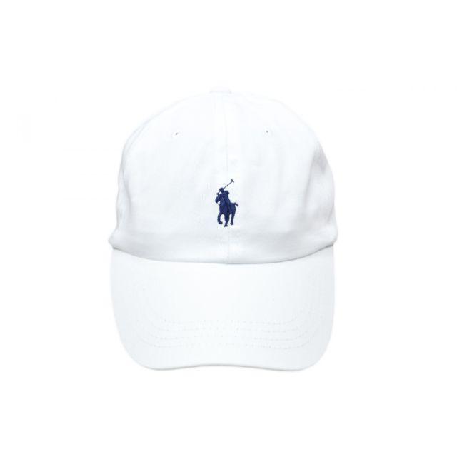 Ralph Lauren - Casquette blanche mixte - pas cher Achat   Vente Casquettes  enfant - RueDuCommerce b483fca6681