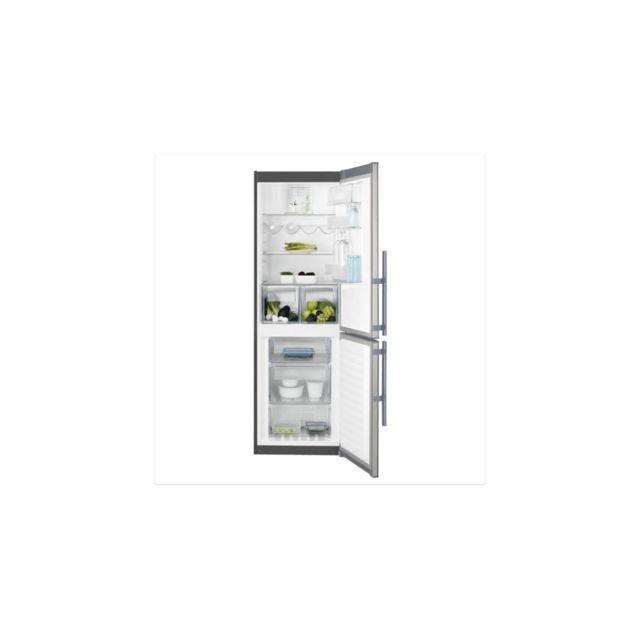 Electrolux Lnt4te33x2 - Refrigerateur Congelateur Bas - 311l 220+91- Froid Ventile - No Frost - A+ - H201 X L60cm - Inox