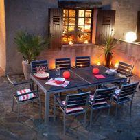 Salon jardin bois composite - Achat Salon jardin bois composite ...
