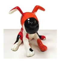Funky Bears - Statue Chien assis Emotion rouge 12 cm
