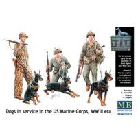 Master Box - Figurines 2ème Guerre mondiale : Service cynophile du corps des Us Marines