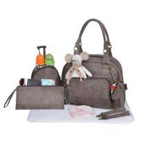 Baby On Board - Sac a langer Mon Croco Bag gris Taupe