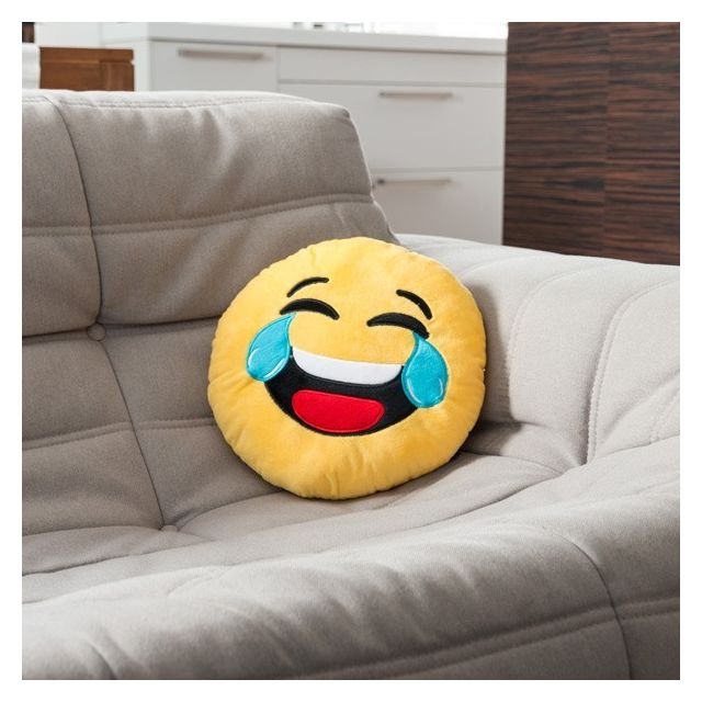 marque generique coussin motic ne jaune mort de rire emoj smiley multi 1cm x 1cm pas. Black Bedroom Furniture Sets. Home Design Ideas