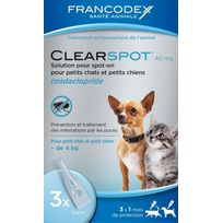 Francodex - Clearspot 3x40 Mg Chats Et Petits Chiens