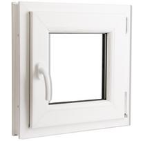 Rocambolesk - Superbe Fenêtre oscillo-battant en Pvc Poignée sur la gauche 500 x 500 mm Neuf