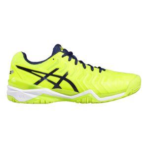 Asics - Chaussures Gel-resolution 7 jaune fluo/bleu indigo/blanc