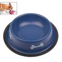 Wewoo - Gamelle bleu pour chien bol d'alimentation de peinture en acier inoxydable de haute qualité animaux de compagnie