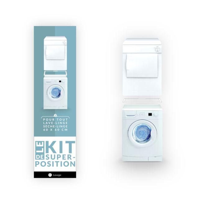 Home Equipement Kit Superposition Simple Pour Lave Linge Et Sèche