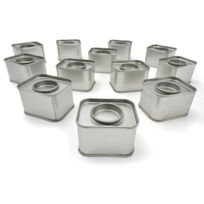 AUTRES - 12 petites boîtes métalliques rectangulaires
