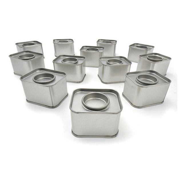 Autre 12 petites boîtes métalliques rectangulaires