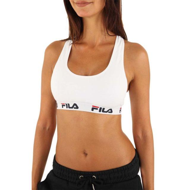 Fila - Brassière Fu6042 Couleur - Blanc, Taille - L - pas cher Achat ... 2ef45b322038