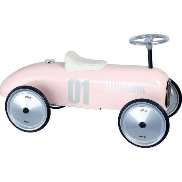 Vilac Porteur voiture vintage rose tendre
