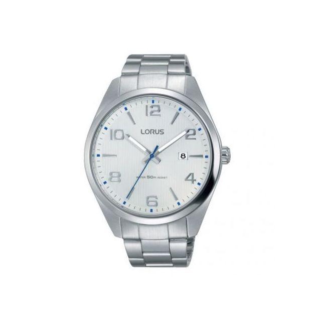Lorus - Montre Homme modèle Classique Argentée et Blanche - Rh963GX9 - cadeau idéal