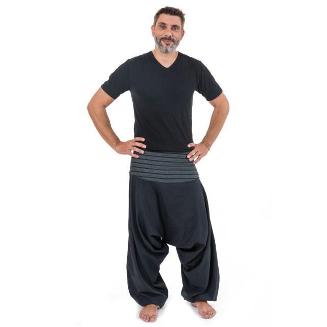 b0ebd9ecbdfcd Fantazia - Pantalon sarouel bali noir rayures noire - pas cher Achat ...