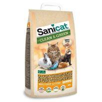 Sanicat - Litiere Clean & Green Wood 20L - Pour chat