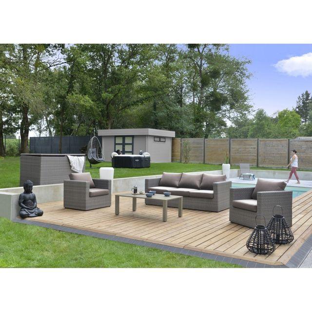 Salon de jardin bas Durban - pas cher Achat / Vente Ensembles ...