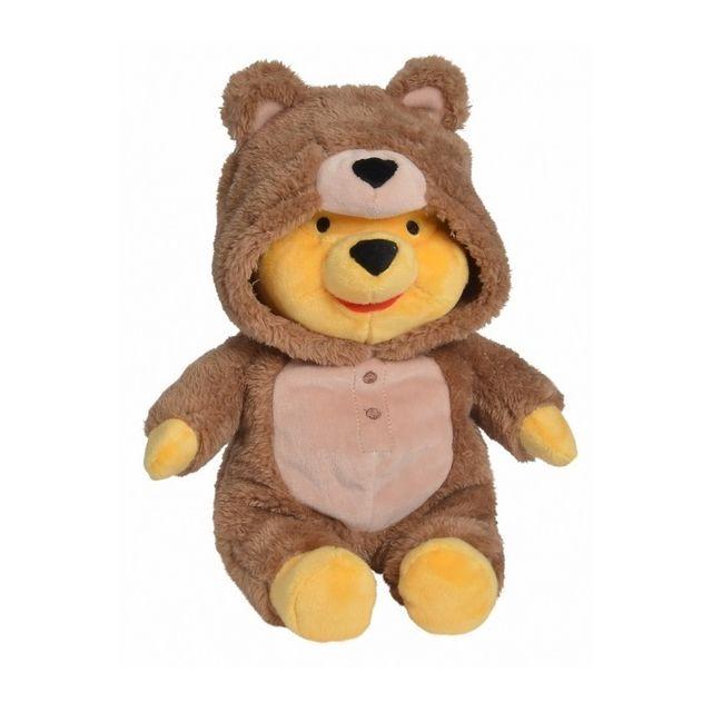 Pyjama Doudou Disney Peluche Winnie L Ourson Deguisement Pingouin 32 Cm