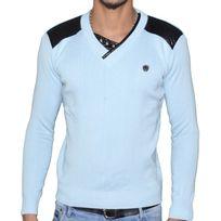 Stef Wear - Pull - Col V - Homme - Stef 823 - Bleu Ciel