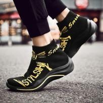 2a304a656472 Wewoo - Chaussures Chaussettes de course sport respirantes tissées  haut-volantes pour hommes Couleur: