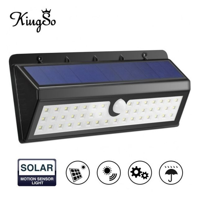 alpexe lampe solaire ext rieur 44 leds d tecteur de mouvement sans fil clairage solaire d. Black Bedroom Furniture Sets. Home Design Ideas