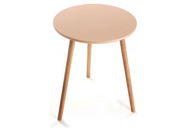 Declikdeco - Choisissez cette table d'appoint Vivi pour rehausser le style de décoration de votre intérieur. Ce modèle entièrement fabriqué en bois vous offrira un rendu esthétique très moderne. Son design sobre et original lui permettra de s'adapter facilement à vos