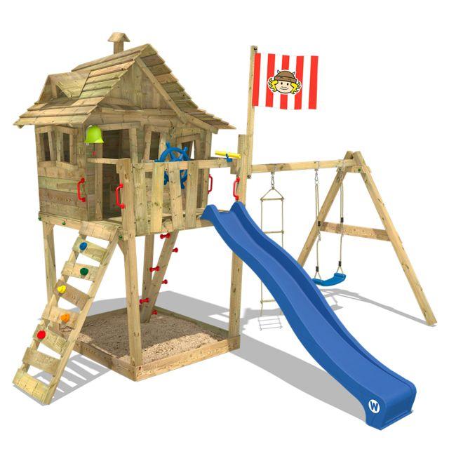 wickey aire de jeux monkey island portique de jeux en. Black Bedroom Furniture Sets. Home Design Ideas