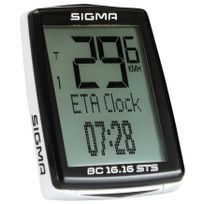 Sigma Sport - Bc 16.16 Sts Cad - Compteur sans fil - sans fil noir