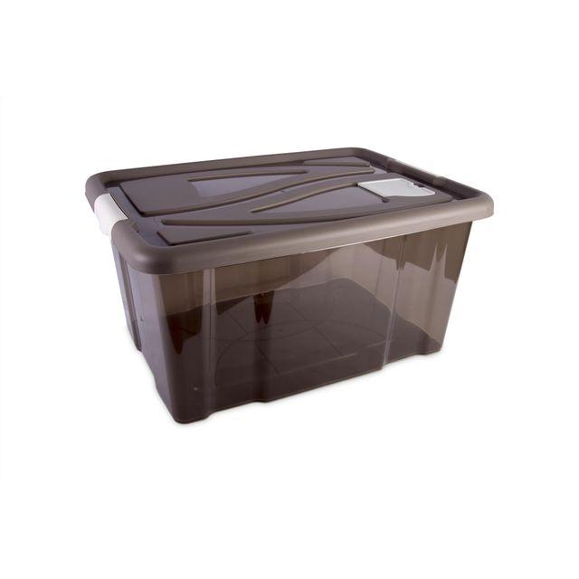 Carrefour Home Boîte De Rangement 58l Taupe 30000