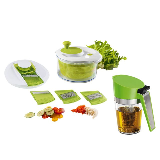 Kitchen Artist Set essoreuse à salade et mandoline - Men218A + Infuseur d'huile - Men289